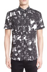 Men's Hugo 'Empson' Trim Fit Short Sleeve Print Sport Shirt
