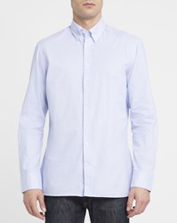 Hackett Sky Blue Thin Stripes Elbow Patches Slim Fit Shirt