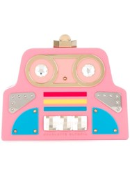 Charlotte Olympia Cobot Clutch Pink Purple