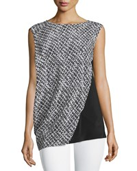 Cnc Costume National Sleeveless Two Tone Top Multi Colors Women's