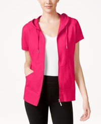 Styleandco. Style And Co. Short Sleeve Hoodie Only At Macy's Pink Breez