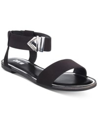 Bar Iii Victor Two Piece Flat Sandals Only At Macy's Women's Shoes Black