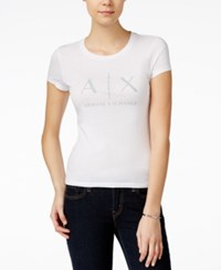 Armani Exchange Logo Graphic T Shirt White