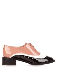 Rochas Lace Up Leather Brogues Black Multi