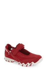 Allrounder By Mephisto Women's 'Niro' Athletic Shoe Red Suede
