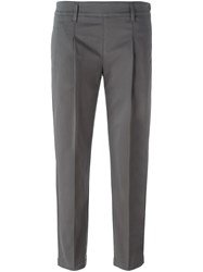 Eleventy Tailored Cropped Trousers Grey