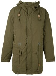 Closed Hooded Coat Green
