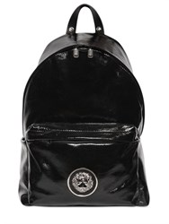 Versus Lion Head Patent Leather Backpack