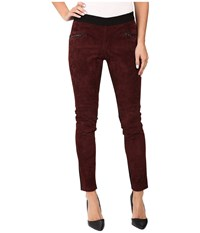 Blank Nyc Suede Pull On Skinny In Serial Vapist Burgundy Women's Jeans