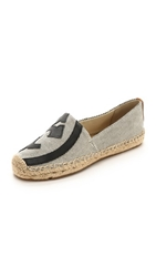 Tory Burch Lonnie Flat Espadrilles Natural Tory Navy Royal Tan