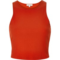 River Island Womens Red '90S Ribbed Crop Top