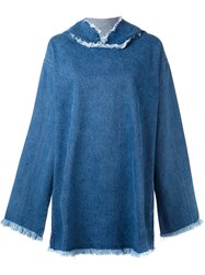 Marques Almeida Marques'almeida Denim Hooded Flared Dress Blue