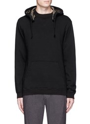Johnundercover Side Zip Cotton Hoodie Black