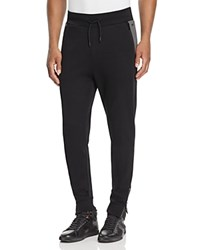 Hugo Damalfi Jersey Zip Cuff Sweatpants Black Grey