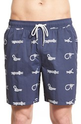 Men's Brooks Brothers 'Montauk' Knot Print Swim Trunks