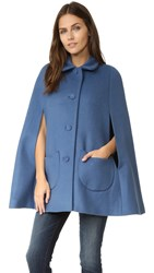 Paul And Joe Sister Anatole Cape Coat With Kitty Pockets Bleu