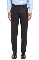 Nordstrom Men's Men's Shop Flat Front Solid Wool Trousers