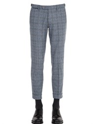 Berwich 17.5Cm Plaid Wool Chino Pants