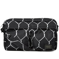 Undercover X Porter Fence Print Messenger Bag Black