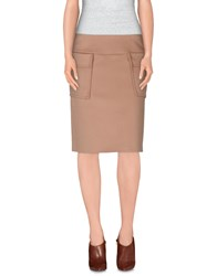 Strenesse Gabriele Strehle Skirts Knee Length Skirts Women Camel