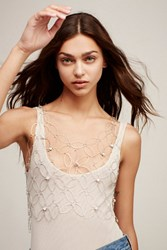 Free People Womens Floral Chain Vest