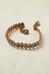 Anthropologie Jeweled Scallop Belt Gold