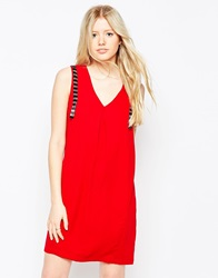 Vero Moda Sleeveless Shift Dress With Embellished Detail Jesterred