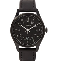 Tsovet Svt Rm40 Stainless Steel And Leather Watch Black