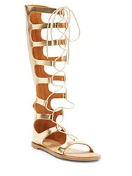 Chinese Laundry Galactic Metallic Faux Leather Gladiator Sandals Gold
