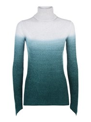 Victorinox Sabine Dip Dye Roll Neck Sweater Cream