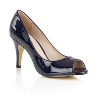 Lotus Prudence Peep Toe Courts Navy