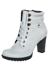 Tom Tailor Laceup Boots Itgrey Off White