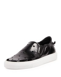 Givenchy Perforated Leather Skate Shoe Black Men's Size 44Eu 11Us