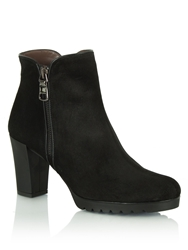 Daniel Commited Heeled Ankle Boots Black