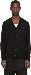 Acne Studios Black Wool Dasher Cardigan