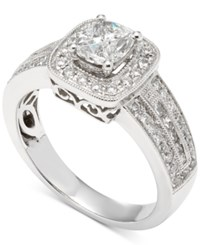 Macy's Diamond Cushion Engagement Ring 1 Ct. T.W. In 14K White Gold