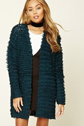 Forever 21 Loop Knit Open Front Cardigan