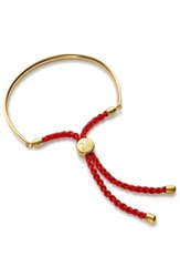 Monica Vinader 'Fiji' Friendship Bracelet Yellow Gold Coral