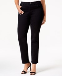 Styleandco. Style And Co. Plus Size Tummy Control Straight Leg Jeans Black