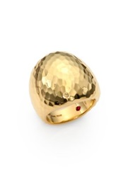 Roberto Coin Martellato 18K Yellow Gold Oval Cocktail Ring