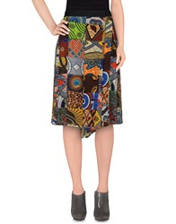 Monocrom Skirts 3 4 Length Skirts Women Dark Brown