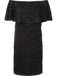 Trina Turk Off Shoulder Dress Black