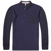 Fred Perry X Nigel Cabourn Football Pique Polo Blue
