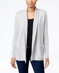 Karen Scott Petite Marled Cardigan Only At Macy's Smk Gry Ma