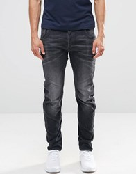 G Star Arc 3D Slim Jeans In Washed Grey Dk Aged