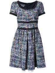 Boutique Moschino Flared Boucle Dress Multicolour