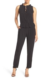 Fraiche By J Women's Sleeveless Peplum Jumpsuit