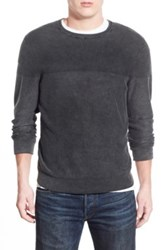 1901 Trim Fit Washed Textured Crewneck Sweater Black