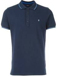Diesel Contrasting Trim Polo Shirt Blue