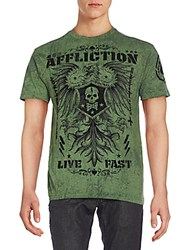 Affliction Graphic Tee Miltary Green